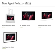 nepal photographic gifts